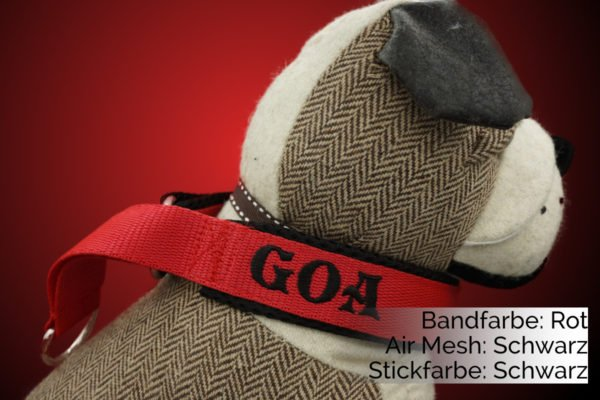 Hundehalsband Rot-Schwarz