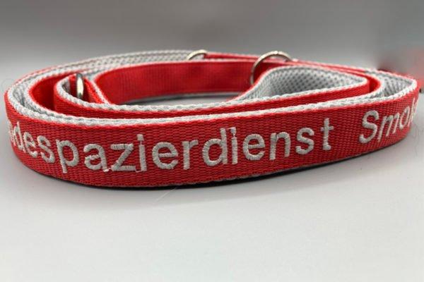 Hundeleine rot-grau