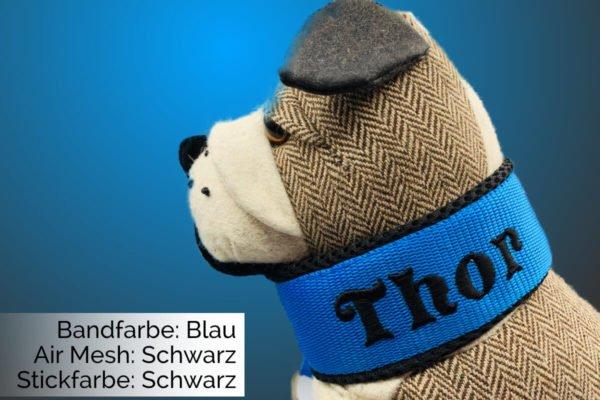 Halsband Blau-Schwarz