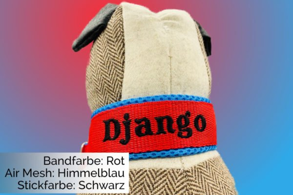 Halsband Rot-Himmelblau