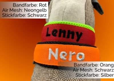 Halsband Orang-Schwarz und Rot-Neongelb