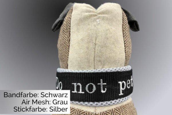 Halsband Schwarz-Grau