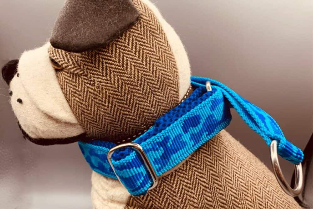 Halsband camouflage blau 1