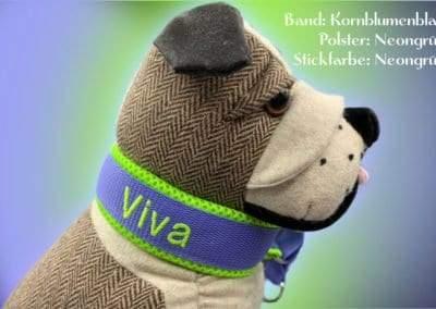 Halsband Kornblumenblau Neongruen