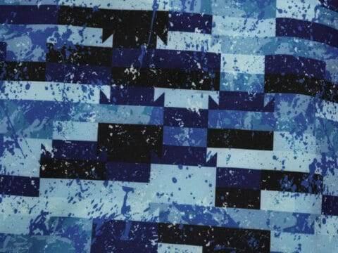 Streifen in Blau